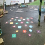 Classic Playground Activity Markings in Ailby 1