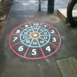 Classic Playground Activity Markings in Ailby 2
