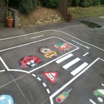 Classic Playground Activity Markings in Ailby 5