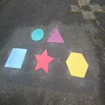 Colourful Playground Hopscotch Designs in Abinger Hammer 10
