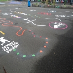 Key Stage 2 Playground Marking in Carrickfergus 11