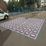 Key Stage 2 Playground Marking in Carrickfergus 4