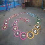 Colourful Playground Hopscotch Designs in Abinger Hammer 11