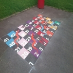 Colourful Playground Hopscotch Designs in Abinger Hammer 9