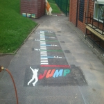 Soccer Pitch Line Painting in Aisby 10