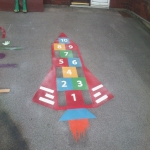 Colourful Playground Hopscotch Designs in Abinger Hammer 12