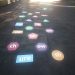 Colourful Playground Hopscotch Designs in Abinger Hammer 4