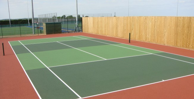 Tennis Court Line Painting in Garth