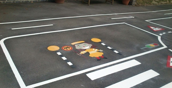 Road Safety Markings in Abergorlech