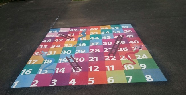 Playground Floor Marking Specialists in Catacol