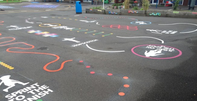 Thermoplastic Floor Graphics in Bowes Park
