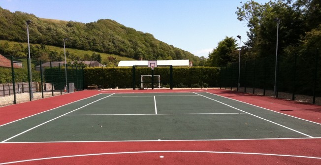 Colour Coating Basketball Courts