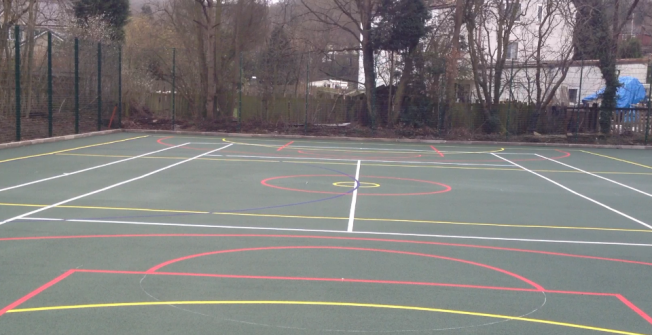 MUGA Sports Line Marking in Allgreave