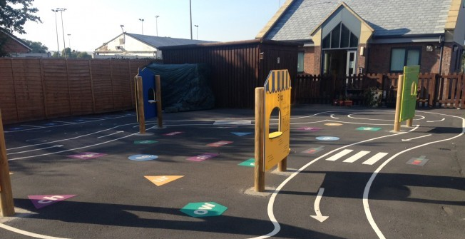 Installing Playground Wall Markings